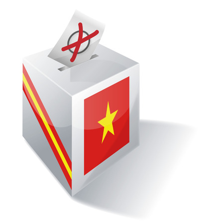 voting rights: Ballot box Vietnam