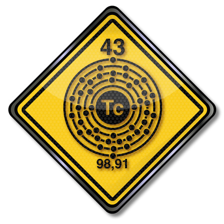 subareas: Chemistry shield and chemical character technetium Illustration