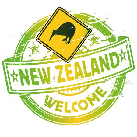 ゴム印ニュージーランドにようこそ