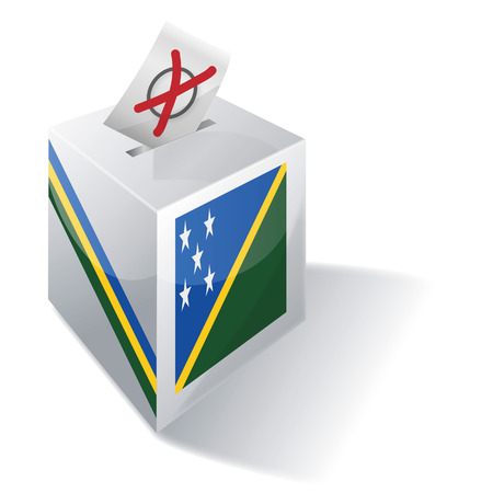 voting rights: Ballot box Solomon Islands