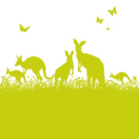 restlessness: Jumping kangaroos in the grass