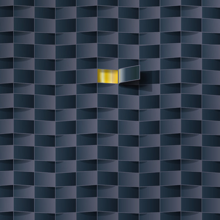 penumbra: Opening a door in a black pattern