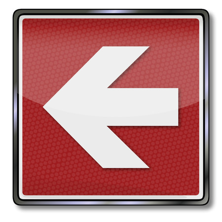 Exit sign with a left arrow