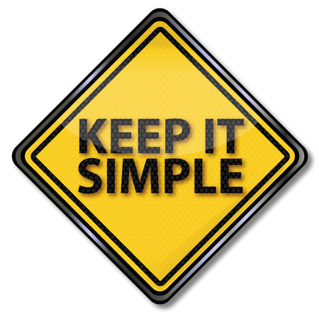 it: Keep it simple sign sign