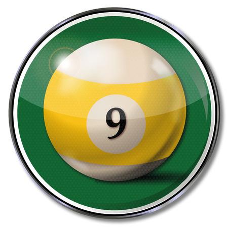 Sign billiard ball number 9