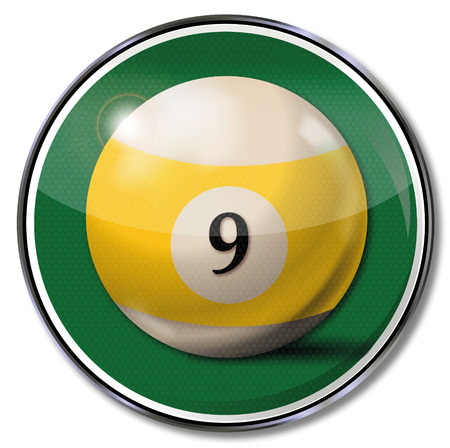 9 ball: Sign billiard ball number 9