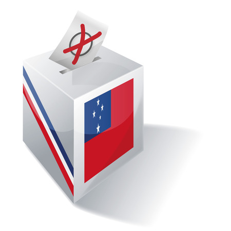 voting rights: Ballot box Samoa Illustration