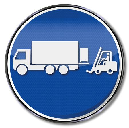 Elevadores y camiones Foto de archivo - 35391932