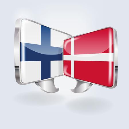 finnish: Bubbles and Speech in Finnish and Danish