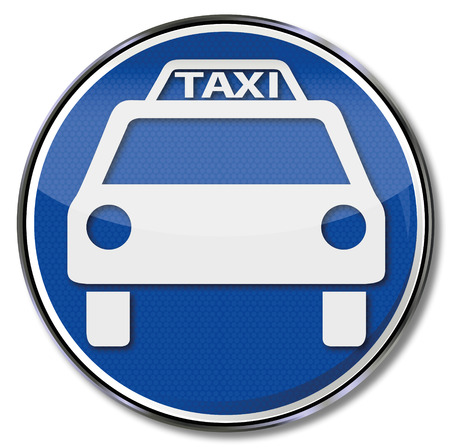 drivers: Sign taxi and taxi vehicle