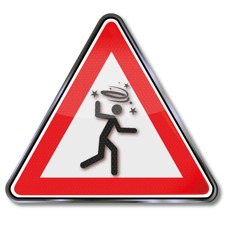 Sign attention drunks and dizziness Illustration