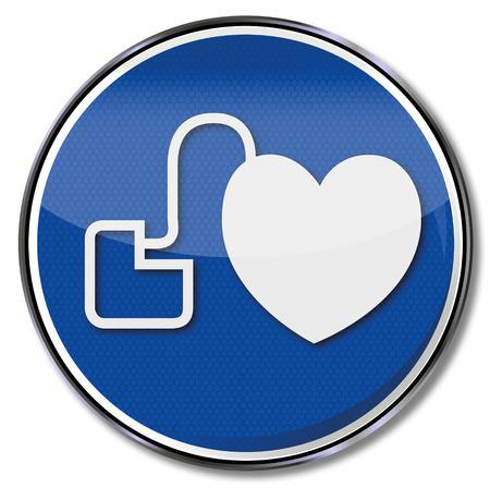 Connectez-vous avec un stimulateur cardiaque Banque d'images - 35693029