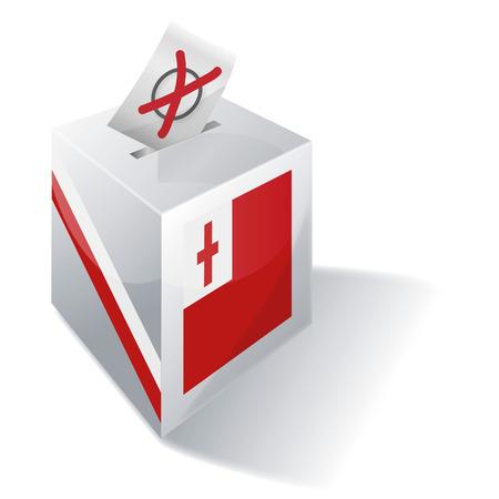 absentee: Ballot box Tonga Illustration