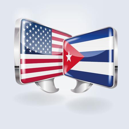 cubana: Burbujas y el habla en Cuba y Am�rica Vectores