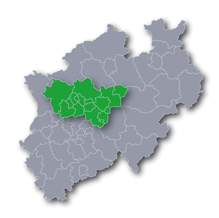dysentery: Map NRW and Ruhr area