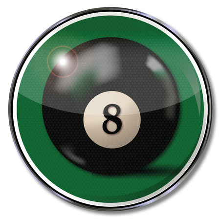 fortunately: Shield black billiard ball number 8