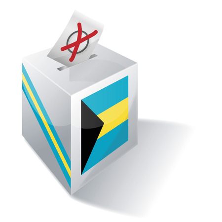 voting rights: Ballot box Bahamas Illustration