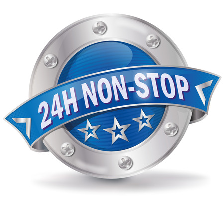 advising: Button 24 hours non stop Illustration