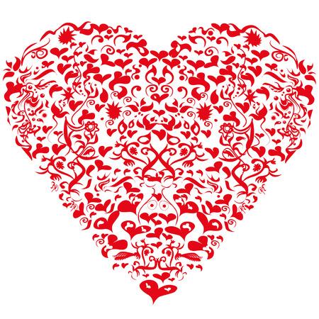 Vignette with heart Illustration