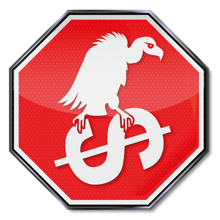 faillite: Dollars et la faillite vautour Illustration