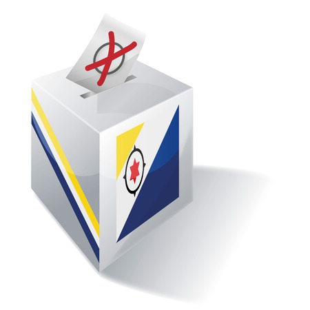 voting rights: Ballot box Bonaire