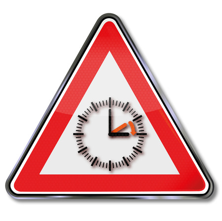 Sign with daylight saving time
