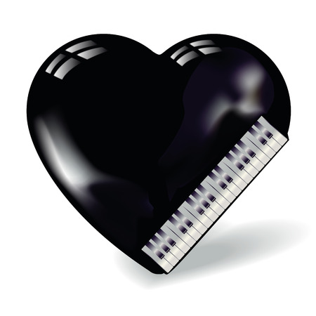 heart sounds: Heart shaped like a piano