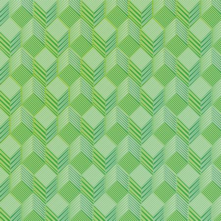 regards: Green dice on a fabric pattern