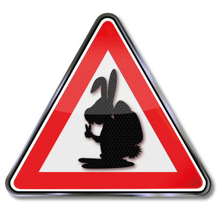 fortunately: Sign with Easter bunny