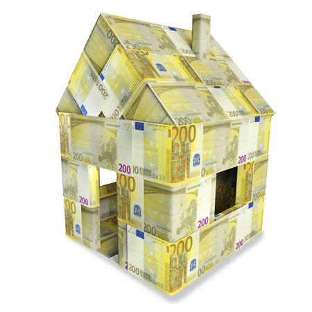 precious metal: House of 200 euro bills