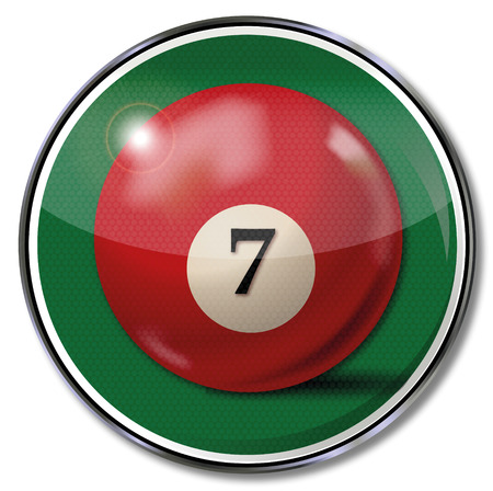 fortunately: Shield wine-red billiard ball number 7