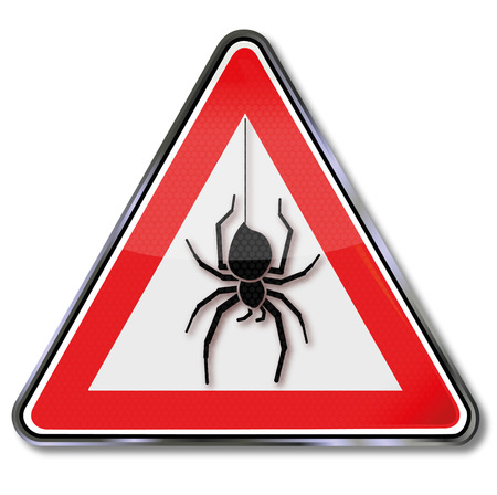 arachnids: Sign with a spider