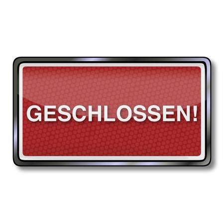closed society: Closed sign