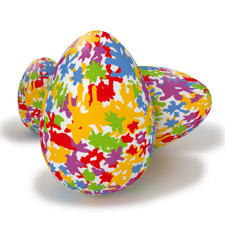 fortunately: Painted easter eggs with colorful spots