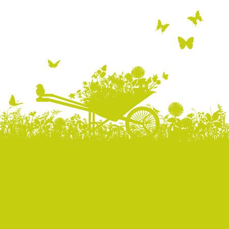 carretilla: Carretilla en el jardín
