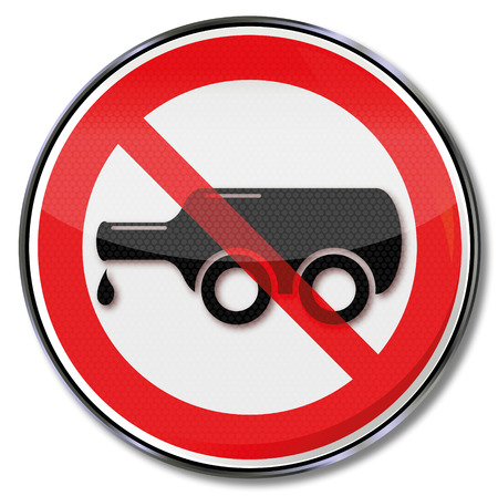 Prohibition sign for drink driving and bottle on wheels Illustration