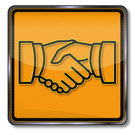 agreement shaking hands: Sign shaking hands and friendship