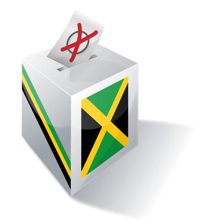 absentee: Ballot box Jamaica Illustration