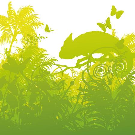 regards: Chameleon in the jungle