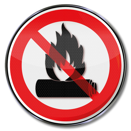 button batteries: Do not incinerate and put the battery on fire Illustration