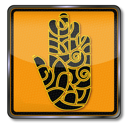 healers: Hand with pattern and tradition