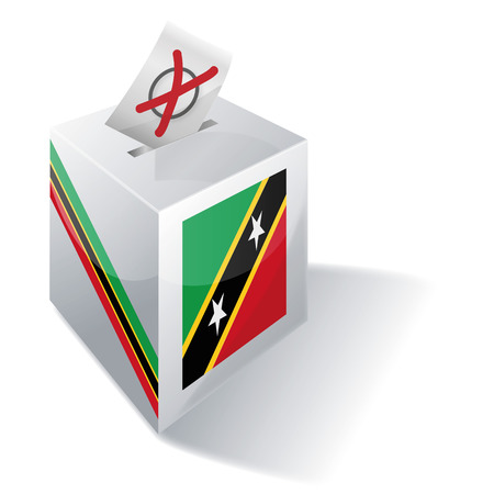 absentee voting: Ballot box St Kitts and Nevis