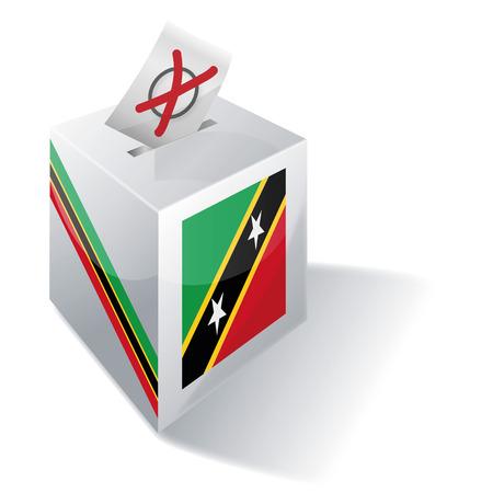 Ballot box St Kitts and Nevis