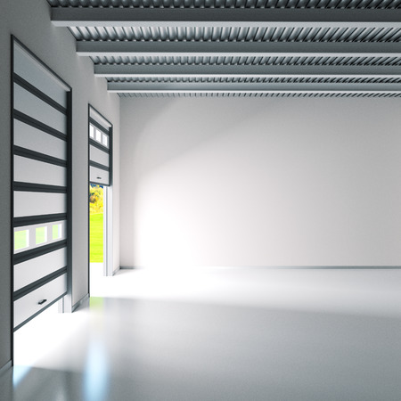 Small hall with roller doors