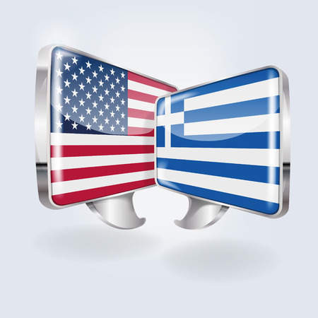 Bubbles and speech in American and Greek