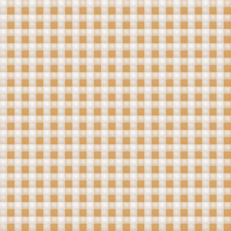 fortunately: Small brown patterned fabric with checks Illustration
