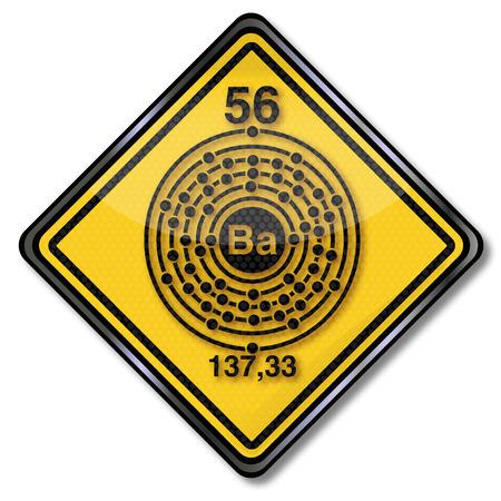 enlaces quimicos: La qu�mica y qu�mica signo escudo de bario Vectores