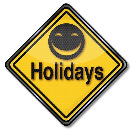 Sign finally big holiday Vector