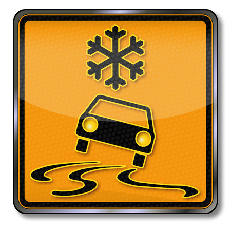 hydroplaning: Sign attention sudden onset of winter