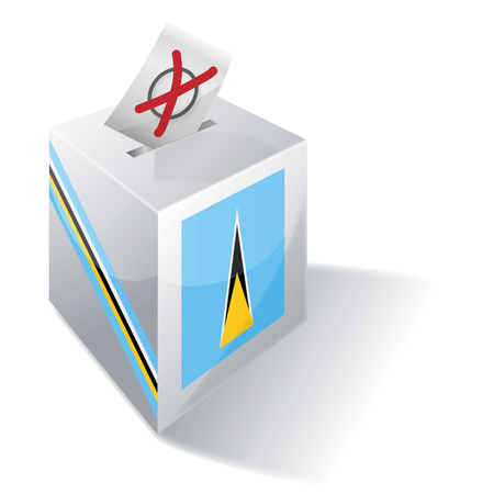 voting rights: Ballot box St. Lucia Illustration